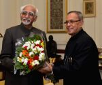 Vice-President calls on President Mukherjee