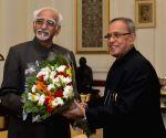 Vice-President calls on President Mukherjee
