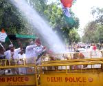 Water canons being charged on Congress workers