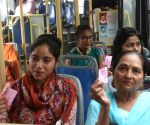 Delhi govt's free bus ride for women brings smiles