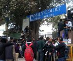 Media personnel outside Patiala Court