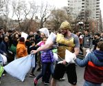 U.S.-NEW YORK-PILLOW FIGHT
