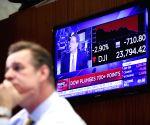 U.S. NEW YORK STOCKS DIVING