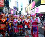 U.S.-NEW YORK-TIMES SQUARE-CHINESE FOLK SONG