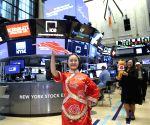 U.S.-NEW YORK-NYSE-HONG KONG DRAGON BOAT FESTIVAL-OPENING BELL