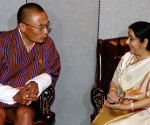 New York: Sushma Swaraj meets Bhutan's PM
