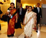New York: United Nations General Assembly - Sushma Swaraj meets Latvian Foreign Minister