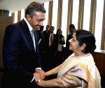New York: United Nations General Assembly - Sushma Swaraj Foreign Ministers of Bangladesh, Bahrain, Denmark, UAE