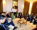 New York: Sushma Swaraj meeting Afghanistan President Ashraf Ghani