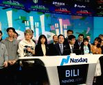 U.S. NEW YORK CHINA BILIBILI NASDAQ IPO