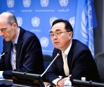 New York: Pingfan Hong during Conference to preview the World Economic Situation