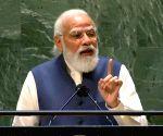 New York: Prime Minister of India Narendra Modi addressing the United Nations in New York