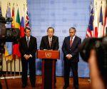 UN BAN KI MOON CYPRIOT LEADERS MEETING