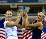 New York: Women's doubles final match at the 2014 U.S. Open