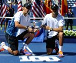 New York: Men's doubles final match at the 2014 U.S. Open