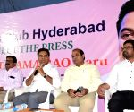 K. T. Rama Rao at a press conference
