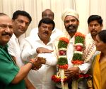 Newly elected BJP Councillor Muniswamy felicitated