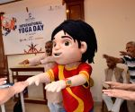 Nicktoon Shiva celebrates International Yoga Day