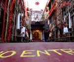 "No Entry"" at Nalini Sarkar Street Puja pandal ahead of Durga Puja celebrations"