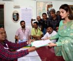 North 24 Parganas (West Bengal): Nusrat Jahan files her nomination for 2019 Lok Sabha polls
