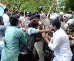 NSUI demonstration against MPPEB scam