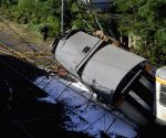 SPAIN O PORRINO TRAIN DERAILMENT