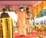 Free Photo: On the occasion of Police Memorial Day, UP CM honored the families of policemen who were martyred in Bikeru incident