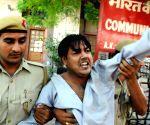 Yechury manhandled by two Hindu Sena activists at press meet