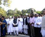Opposition leaders' demonstration against demonetisation