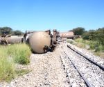 NAMIBIA OTJIWARONGO TRAIN DERAILING