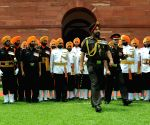 Guard of Honour to Outgoing Army Chief General Bikram Singh