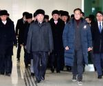 SOUTH KOREA DPRK PERFORMANCE SQUAD ARRIVAL