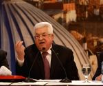 MIDEAST RAMALLAH PRESIDENT ABBAS PRESS CONFERENCE