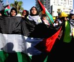 MIDEAST-GAZA CITY-PROTEST-ISRAELI ANNEXATION PLAN