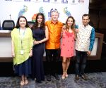 Panaji : IFFI 2017  - Press conference - Pablo Cesar, Suraj Kumar and Aleonora Wexler and Raima Sen