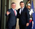FRANCE PARIS PRESIDENT JORDAN KING MEET