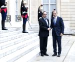 FRANCE PARIS HOLLANDE TUSK MEETING