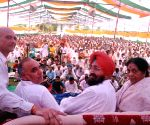 Partap Singh Bajwa during a rally in Hoshiarpur