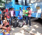Bus services resumed in flood hit Bengal