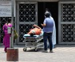 Patient enter at Lok Nayak Jai Prakash Covid Hospital (LNJP) in new Delhi
