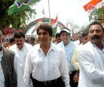 Raj Babbar during a Congress programme