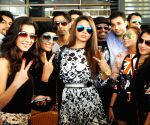 Rakhi Sawant arrives at Patna Airport