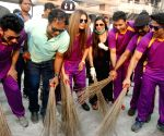 Rakhi Sawant participates in Clean India Campaign on the eve of World Toilet Day