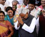 Nitish Kumar arrives at the Bihar assembly