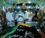 :Patna:Bihar Chief Minister Nitish Kumar offers prayers at High Court Mazar