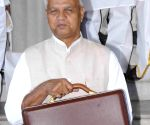 Bihar Finance Minister  arrives to present the state budget for 2015-16