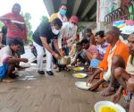 BJP Sports Cell today distributed masks and food among the needy people in Patna