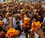 Devotees throng Ganga ghat on Kartik Purnima