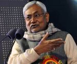 Nitish Kumar during a programme organised on the birth anniversary of Swami Vivekananda