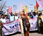 Leftist organisations  demonstrate against land acquisition law
